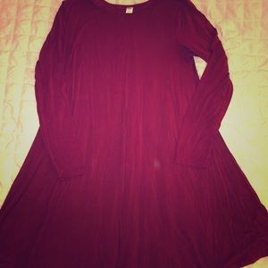 Maroon old navy swing dress long sleeve